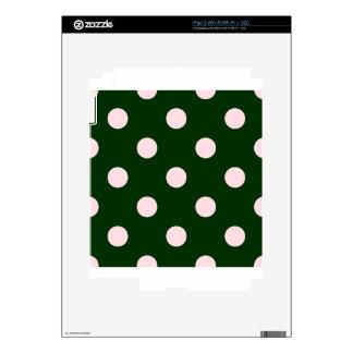 Polka Dots Huge - Pink on Dark Green Skin For The iPad 2