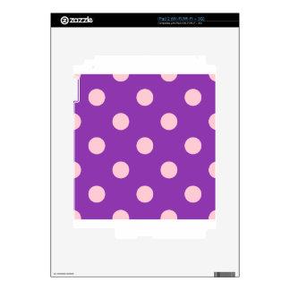 Polka Dots Huge - Pink on Violet Skin For iPad 2