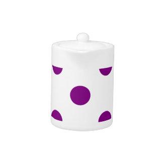 Polka Dots Huge - Purple on White