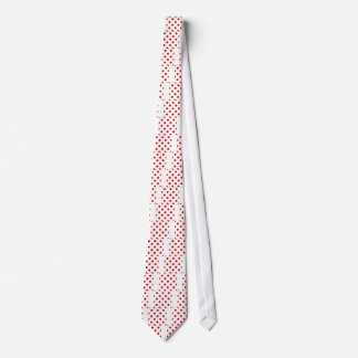 Polka Dots Huge - Rosso Corsa on White Tie