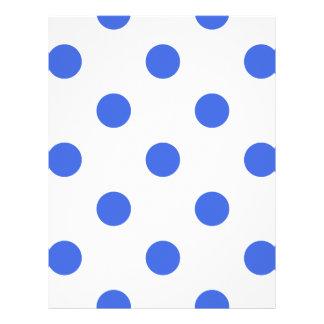 Polka Dots Huge - Royal Blue on White Letterhead