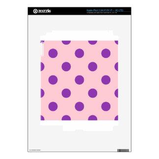 Polka Dots Huge - Violet on Pink iPad 3 Decal