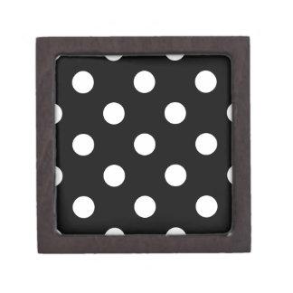 Polka Dots Huge - White on Black Premium Gift Box