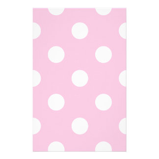 Polka Dots Huge - White on Cotton Candy Stationery Paper