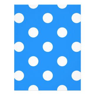Polka Dots Huge - White on Dodger Blue Letterhead