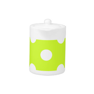 Polka Dots Huge - White on Fluorescent Yellow
