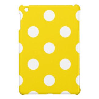 Polka Dots Huge - White on Golden Yellow iPad Mini Case