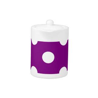 Polka Dots Huge - White on Purple