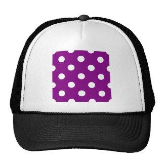 Polka Dots Huge - White on Purple Trucker Hat
