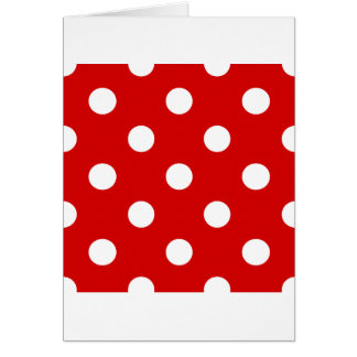 Polka Dots Huge - White on Rosso Corsa Greeting Card