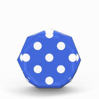 Polka Dots Huge - White on Royal Blue Award
