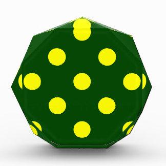 Polka Dots Huge - Yellow on Dark Green Award