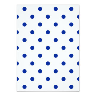 Polka Dots - Imperial Blue on White 4.5x6.25 Paper Invitation Card