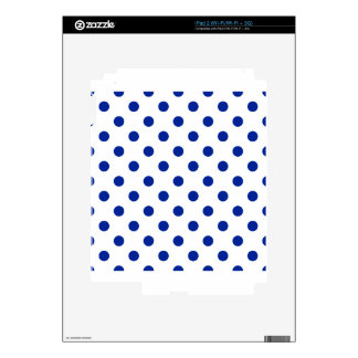 Polka Dots - Imperial Blue on White Skins For The iPad 2