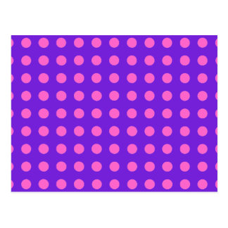 Polka Dots in Any Color You Choose on Purple Cards Postcard