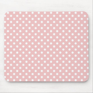 Polka Dots in Baby Pink Mousepad