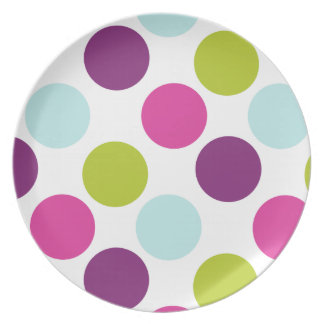 Polka Dots in Berry Light Plate