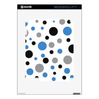 Polka Dots in Blue Gray and Black Decal For iPad 3