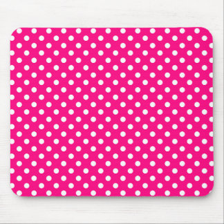 Polka Dots in Bright Pink Mousepad