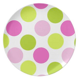 Polka Dots in BubbleLime Plate