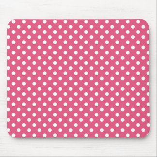 Polka Dots in Dark Pink Mousepad