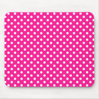 Polka Dots in Deep Pink Mousepad