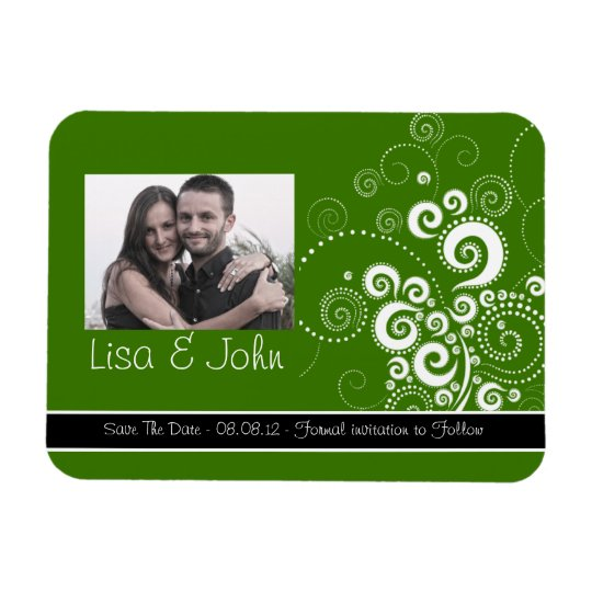 Polka dots In Green Magnet