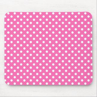 Polka Dots in Hot Pink Mousepad
