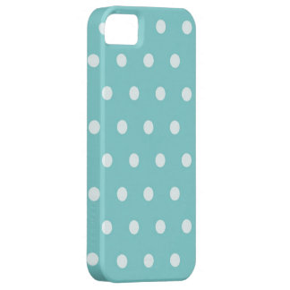 Polka Dots in turquoise blue iPhone SE/5/5s Case