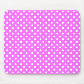 Polka Dots in Ultra Pink Mousepad Mouse Pad