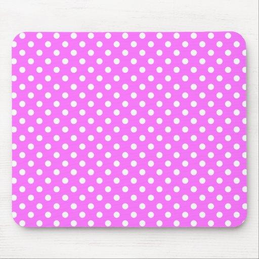 Polka Dots in Ultra Pink Mousepad