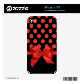 polka dots iPhone 4/4S skin iPhone 4S Decal