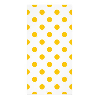 Polka Dots Large - Amber on White Photo Card
