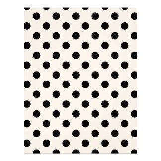 Polka Dots Large - Black on Almond Letterhead