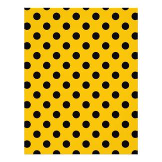 Polka Dots Large - Black on Amber Letterhead