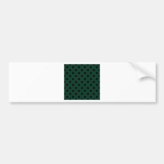 Polka Dots Large - Black on Dark Green Bumper Stickers
