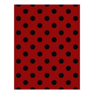 Polka Dots Large - Black on Dark Red Letterhead