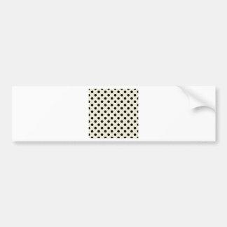 Polka Dots Large - Black on Eggshell Car Bumper Sticker