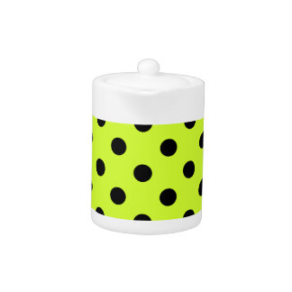 Polka Dots Large - Black on Fluorescent Yellow
