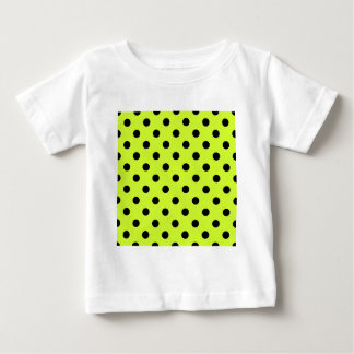 Polka Dots Large - Black on Fluorescent Yellow Infant T-shirt
