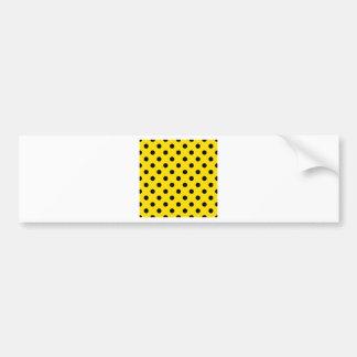 Polka Dots Large - Black on Golden Yellow Bumper Sticker