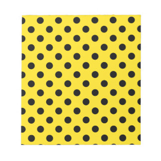 Polka Dots Large - Black on Golden Yellow Memo Note Pads