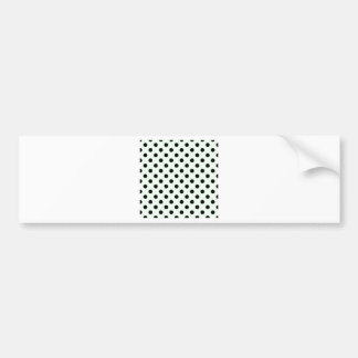 Polka Dots Large - Black on Honeydew Car Bumper Sticker