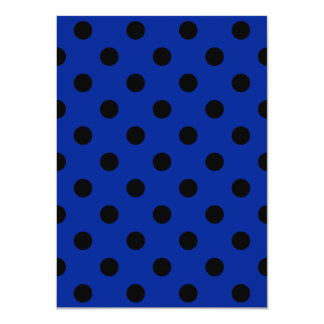 Polka Dots Large - Black on Imperial Blue 4.5x6.25 Paper Invitation Card