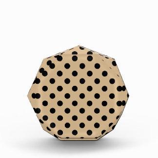 Polka Dots Large - Black on Tan Acrylic Award