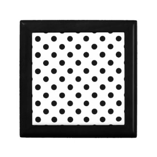 Polka Dots Large - Black on White Jewelry Boxes