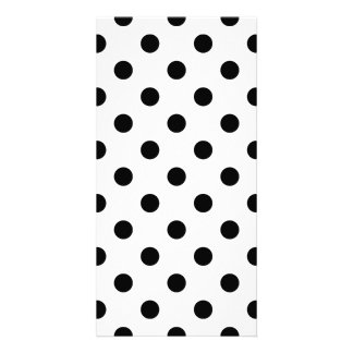 Polka Dots Large - Black on White Photo Card