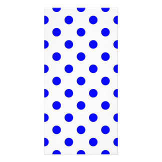 Polka Dots Large -  Blue on White Photo Card