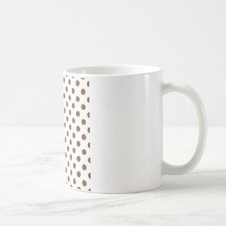 Polka Dots Large - Brown Nose on White Coffee Mug