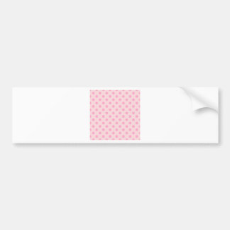 Polka Dots Large - Carnation Pink on Pale Pink Bumper Stickers